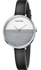 ck Calvin Klein Rise K7A231C3  Damenuhr Leder schwarz neu