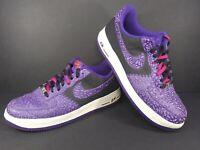 Nike Air Force 1 Black Purple Crackled Men's Size 13 488298-025
