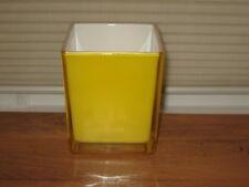Yellow Vase W/ White Inside
