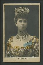 Royalty postcard Queen Mary Great Britain embossed photo card Bas-Relief Vintage