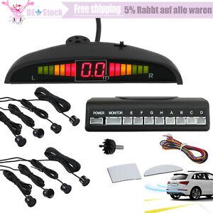 Einparkhilfe 8x Sensoren Schwarz Auto Rückfahrwarner Lautsprecher PDC Parksystem