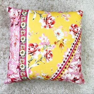 "NWT Anthropologie Kachel Maryrose 24"" x 24"" Floral Pillow"