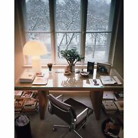 OLuce - ATOLLO 237 - Lampada da tavolo/Table lamp - vetro opale/opal glass