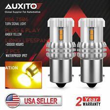 AUXITO 1156 BA15S P21W LED Amber LED Turn Signal Parking Light Bulb Super Bright