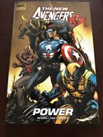 The New Avengers: Power Hard Cover Graphic Novel Signed Bendis