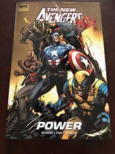 The New Avengers: Power Hard Cover Graphic Novel Signed Bendis