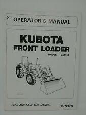 Kubota Front Loader L1153 Tractor Operators Manual