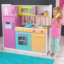 NEW KidKraft Kitchen Deluxe Big & Bright Coloured Kids Pretend Play Fun 53100