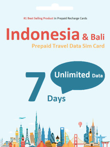 7 days Indonesia Bali Unlimited Data Travel SIM card 4G Indosat Network