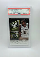 2012 Panini Brilliance Kawhi Leonard #10 Team Tomorrow Rookie Card RC PSA 9 Mint