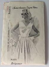1960s Sun Dress Spadea Pattern N 1171 American Designer Tom Brigance SZ 12 VTG