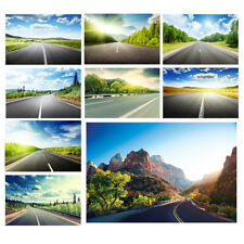 Highway Road View Photo Background Cloth Photography Backdrop Props