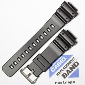 CASIO black rubber watch band for DW-5300, DW-5900, DW-6600, 71604349