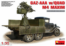 CAMION SOVIETIQUE GAZ-AAA avec QUAD M-4 Maxim AA - KIT MINIART 1/35 n° 35177