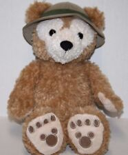 "Disney Hidden Mickey DUFFY BEAR 13"" Safari Hat Soft Toy Plush Stuffed Animal"