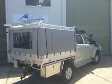 Toyota Hilux Canvas Ute Canopy - HARD TOP CHECKERPLATE ROOF ONLY (DUAL CAB)