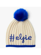 f67c5105896ab John Lewis Elfie Pom Pom Beanie Hat Cream Blue One Size Brand New With Tags