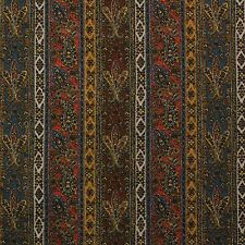"P Kaufmann Gem Paisley Amber Brown Stripe Printed Chenille Fabric By Yard 54""W"