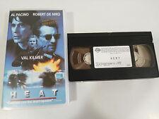 HEAT VHS TAPE COLECCIONISTA EDICION ESPAÑOLA AL PACINO ROBERT DE NIRO VAL KILMER