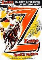 ZORRO RIDES AGAIN - DVD - Region Free - Sealed
