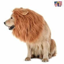 Pet Dog Puppy Cat Fur Wig Lion Costume Halloween Clothes Dress Up Cosplay Hat