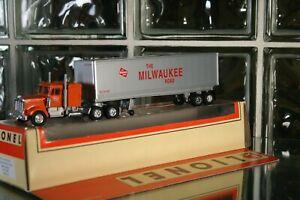 O Scale 6-52116 Milwaukee Road Club 50th Anniv. Semi Tractor and Trailer.  NEW