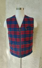 Rare Vintage CP Company Men's Insulated Wool Tartan Plaid Vest Coat Size 48