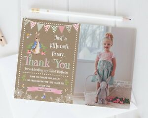 10 Personalised Peter Rabbit Photo Thank You Cards l / Birthday / Christening
