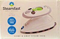 NEW Steamfast Travel Mini Steam Iron w/ Non-Stick Press Plate & Travel Bag