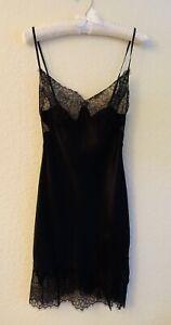 New SUGGEST Silk Glamour Black Nightie Slip Size XS