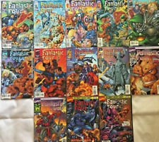 FANTASTIC FOUR#1-13 VF/NM LOT 1996 JIM LEE REMAKES THE FF MARVEL COMICS