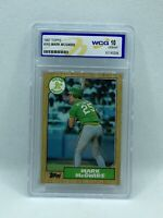 1987 Topps Mark McGwire #366 WGC GEM MINT 10 Oakland Athletics. MUST SEE!