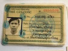 Vietnam War Era Citizen Id Photo & Local Business Cards, Hotel, Restaurant, Bar