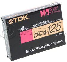 Datos Cartucho TDK dds-3 12gb / 24gb 4mm 125m dc4-125