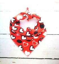 Pet Pooch Boutique Patchwork Hearts Bandana for Dog Medium/large Red