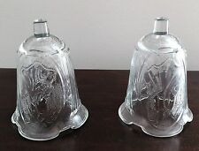 Home Interiors Heavy Angel Raised Panel Votive Candle Sconce Cups Set of 2