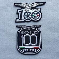 PATCH MOTO GUZZI 100 ANNIVERSARIO PZ 2 RICAMATA GRIGIO+ ARGENTO- REPLICA-C.441