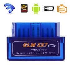 Wireless  ELM327 V2.1 Bluetooth OBD2 OBDII Car Auto Diagnostic Scan Scanner Blue