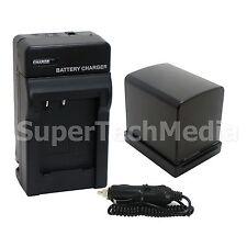 Battery+ Charger + Car Adapter for Canon BP-819 Vixia HG20 HG21 HF10 HF11 HF20