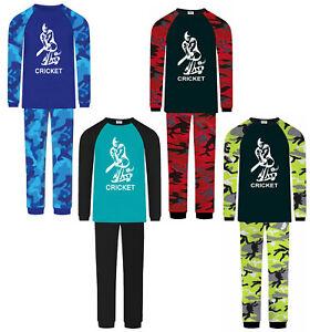 Boys Cricket Pyjamas Pjs Premium Range