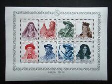 Portugal 1947 Stamps MINT Sheet Shepherdess Caramullo Woman of Avintes Algarve A