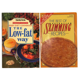 """Family Circle Easy Diet Recipes """"The Low-Fat Way"""" + """"Best of Slimming Recipes"""""""