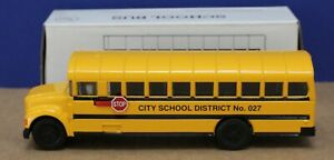 "Ertl K076 International School Bus 1:43  7 1/4"" Mint/ Box 1997"