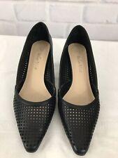 e8cdfef09af Bella Vita Leather Black Womens Shoes Herringbone High Heel Pumps Size 6.5  WW