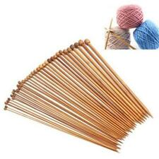 PAIR 35 CM'S CARBONIZED SMOOTH BAMBOO SINGLE POINT KNITTING NEEDLES,IN 18 SIZES