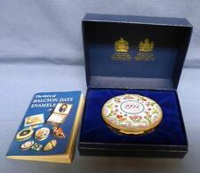 "1994 HALCYON DAYS ENAMELS ENGLAND NEW TRINKET BOX  ""A YEAR TO REMEMBER"" boxed"