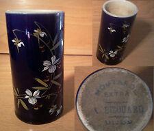 ancien pot à moutarde de Dijon Bizouard porcelaine émaillée fin XIX ème