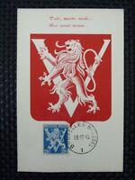 BELGIEN MK 1944 WAPPENLÖWE VICTORY MAXIMUMKARTE CARTE MAXIMUM CARD MC CM a6672