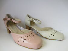 Ladies DB (Da Bella) Beige/Pink Shoes  Gail