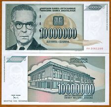 Yugoslavia, 10,000,000 (10000000) Dinara, 1993, Pick 122, AA-Prefix, UNC